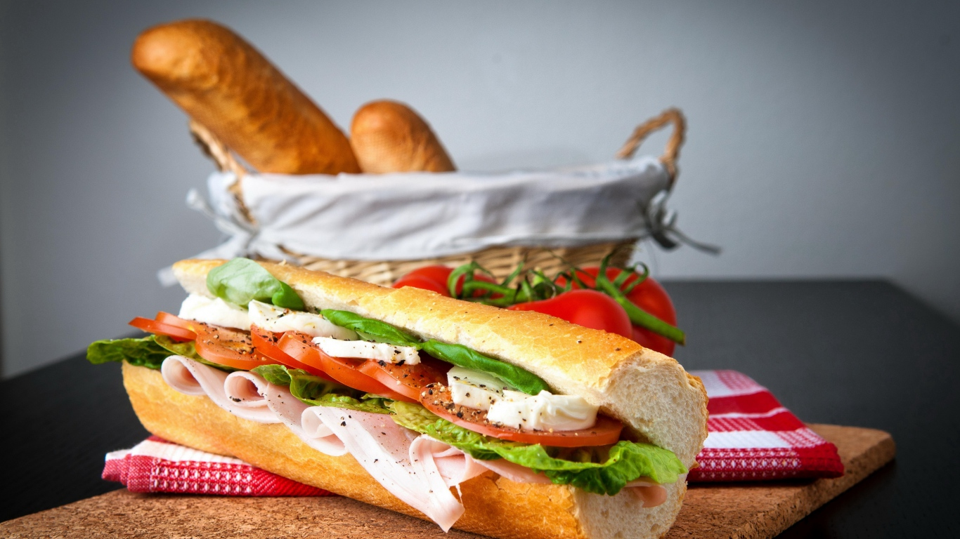 sandwich_bread_meat_tasty_70857_1366x768