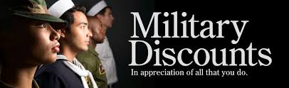 ①militaly discount