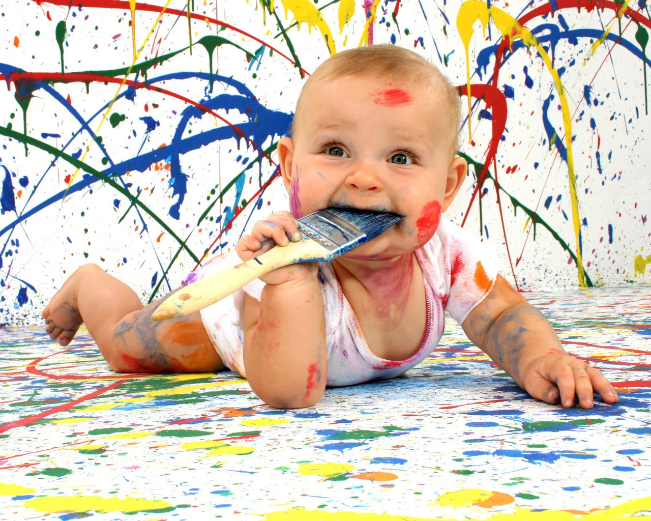baby_amusing_paint_dirty_funny_bully_11147_1280x1024