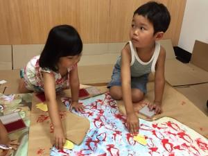 7/30(土)絵画教室風景【大阪 こども 絵画・WEB・デザイン教室/モネットスクール】