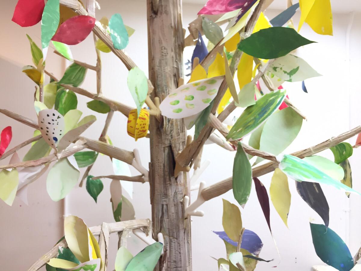 大阪北区の幼児絵画教室モネットスクール「世界に一つの木」がついに完成しました!
