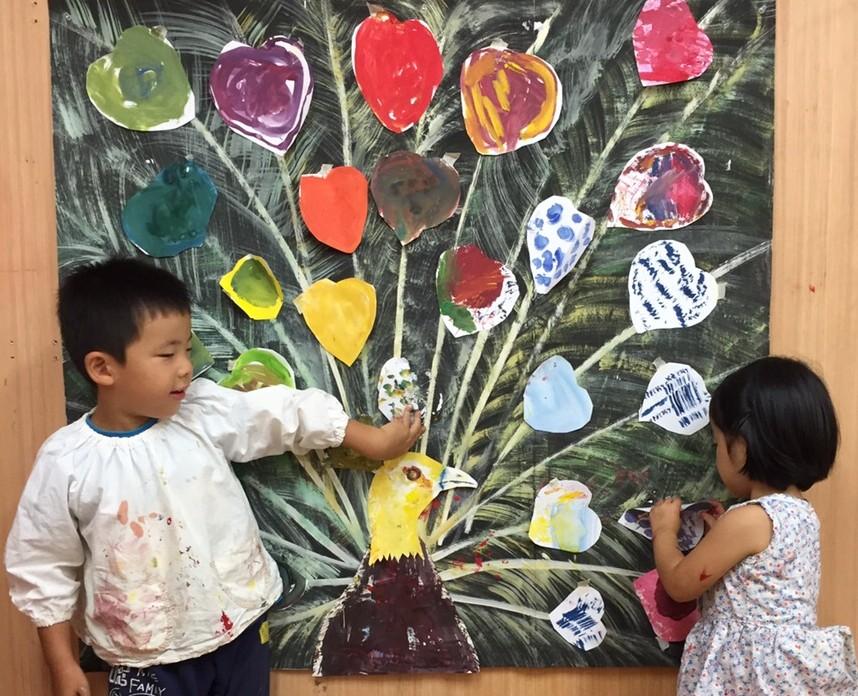 幼児絵画教室モネットスクール無料体験会「3歳~4歳」のこどもたちが参加!