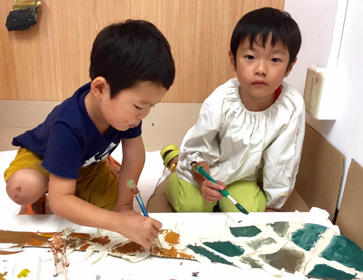10月カリキュラムのお知らせ【Monette School展開催します】幼児絵画教室の展覧会