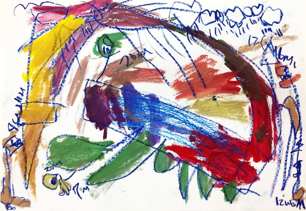 こども絵画コンテスト応募作品の制作をしました!【モネスク】