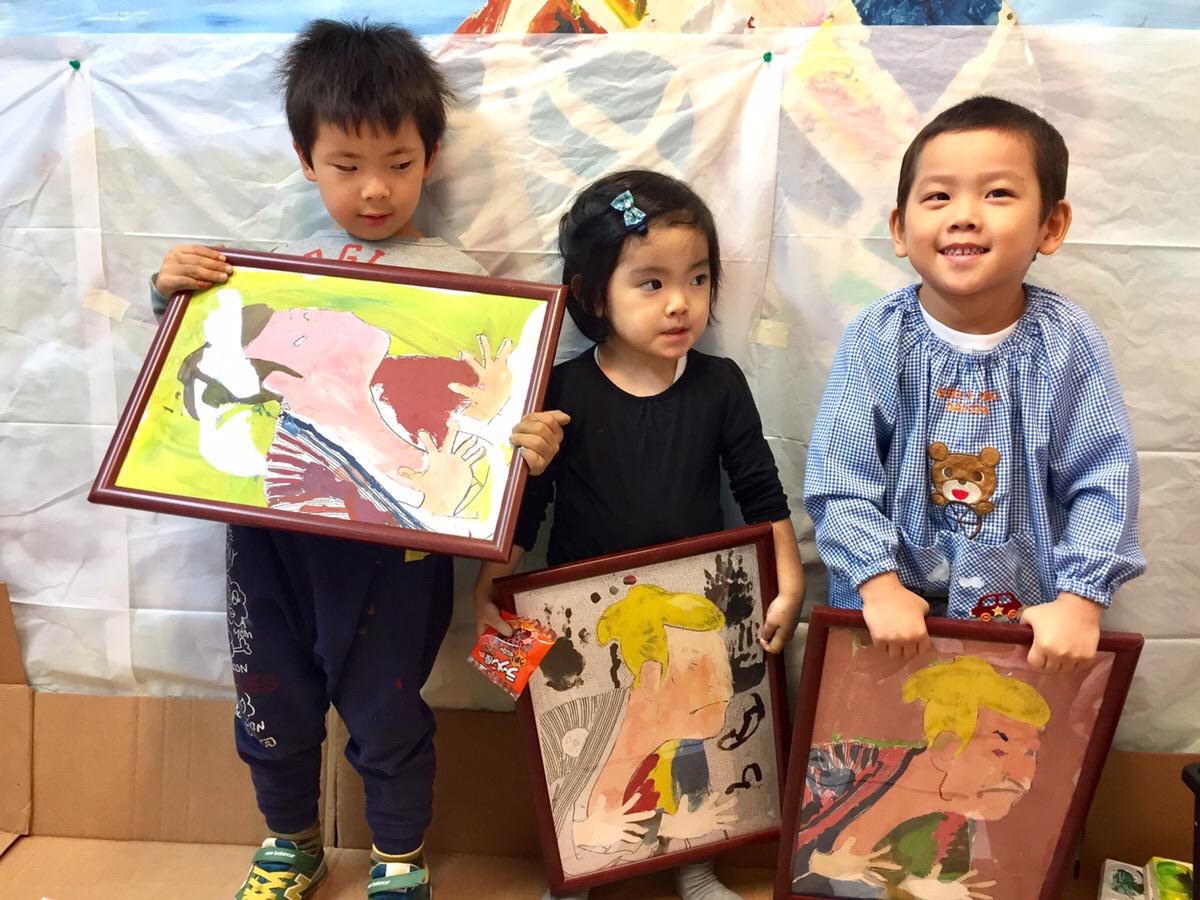 浮世絵ペイントに挑戦!【モネットスクール】大阪の幼児 子供 お絵かき・WEB&デザイン教室