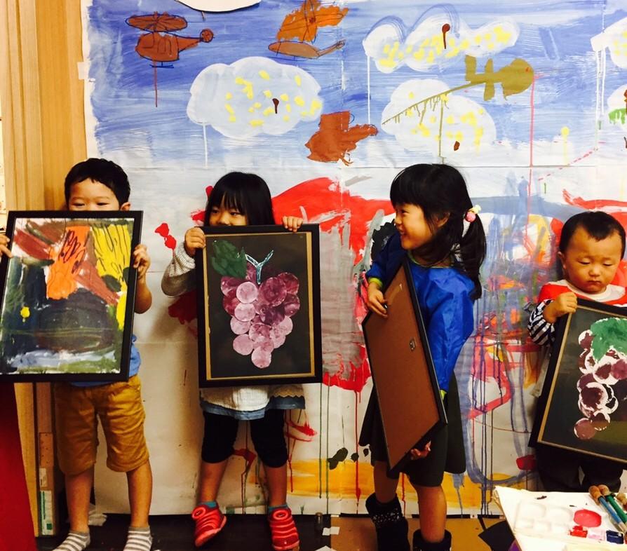 リビングに飾りたいキッズアート!幼児こどもWEB・デザイン/絵画教室【モネットスクール】