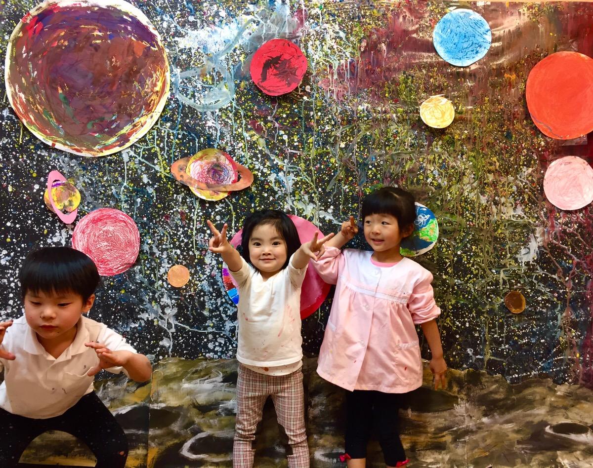 宇宙を描く!大阪南森町の幼児絵画教室