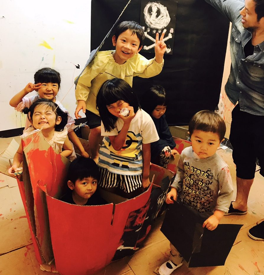 「海賊船をつくる!」ダンボールアート遊び
