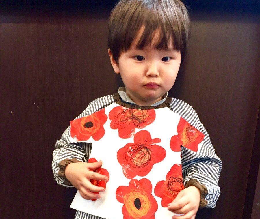マリメッコ・北欧風デザイン絵画に挑戦!子ども幼児/お絵かき/英会話【モネットスクール大阪】