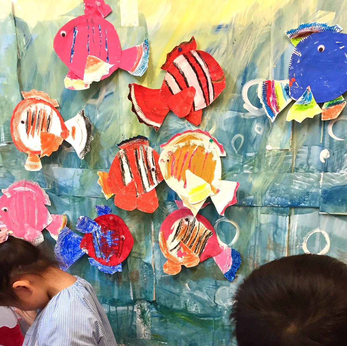 「ニモ」や「アリエル」ディズニーの世界を表現!【モネットスクール大阪/幼児こどものお絵かき・工作・造形】