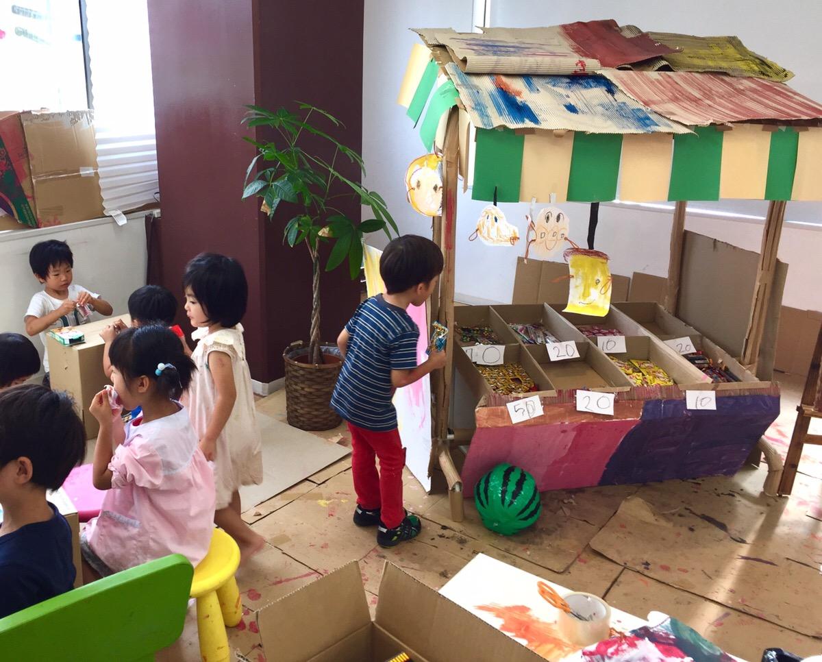 創造体験で駄菓子屋さんを子供たちと作ってみた