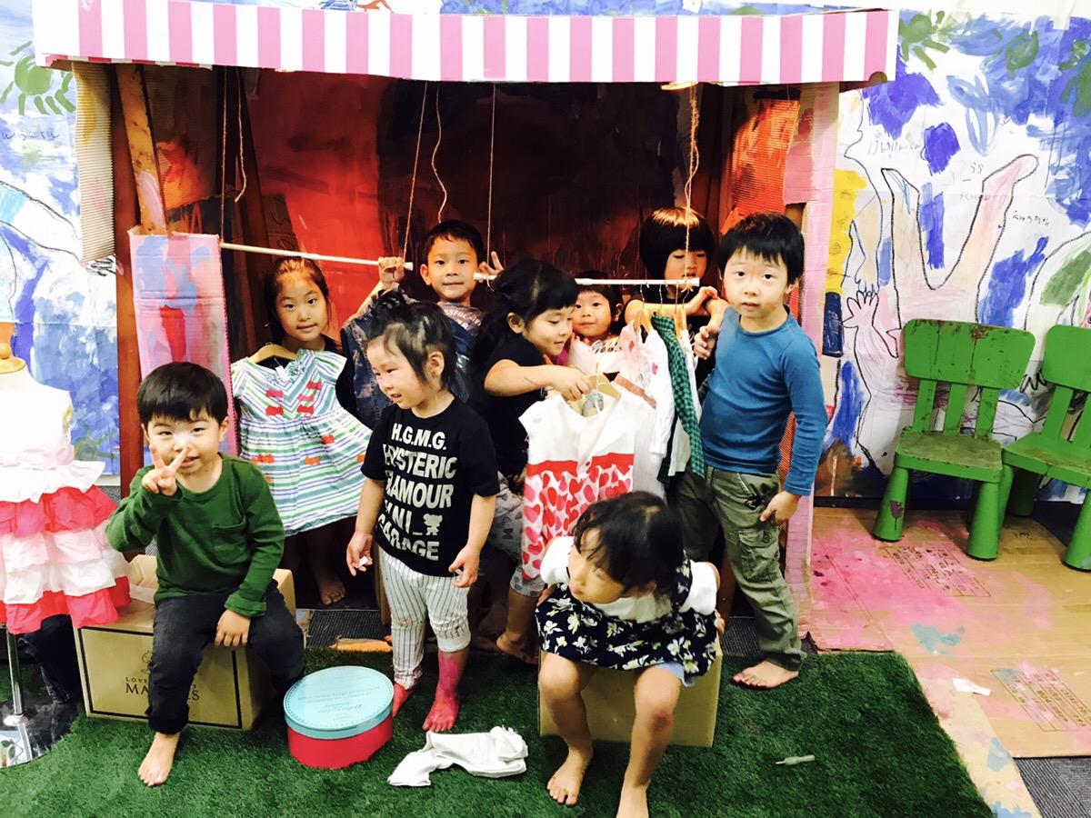 子どもが「服屋をつくる」服のデザインとお店屋さんごっこ