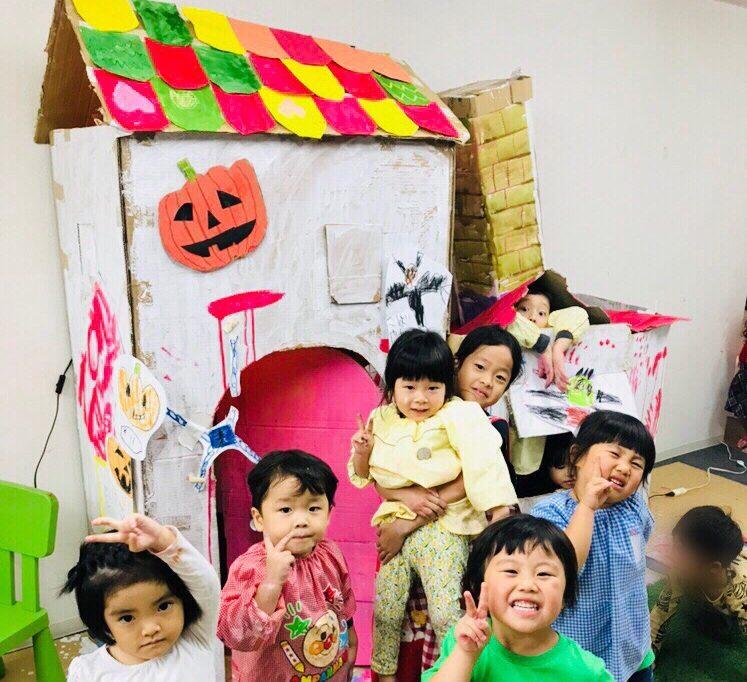 1LDKダンボールの家「ハロウィンハウス」をつくりました!