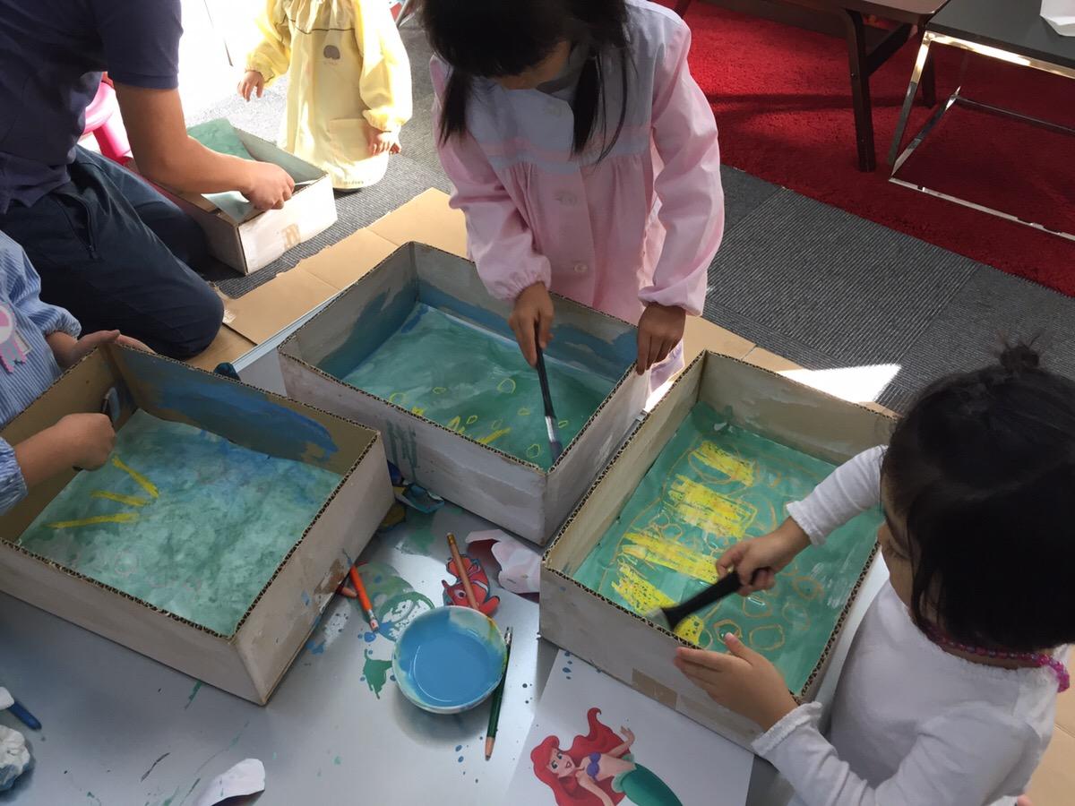 ニモやアリエル「ディズニーの海の世界」をボックスアート・立体作品で表現しました!