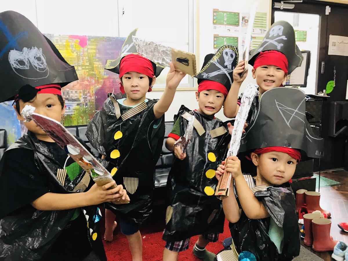 海賊・人魚のコスチュームをつくる!子供の工作 足形ペイントアート!