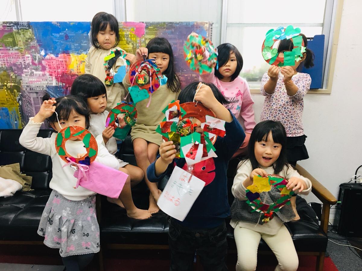 クリスマスのオリジナル作品!アートを通じて学べる大阪の子供英語教室
