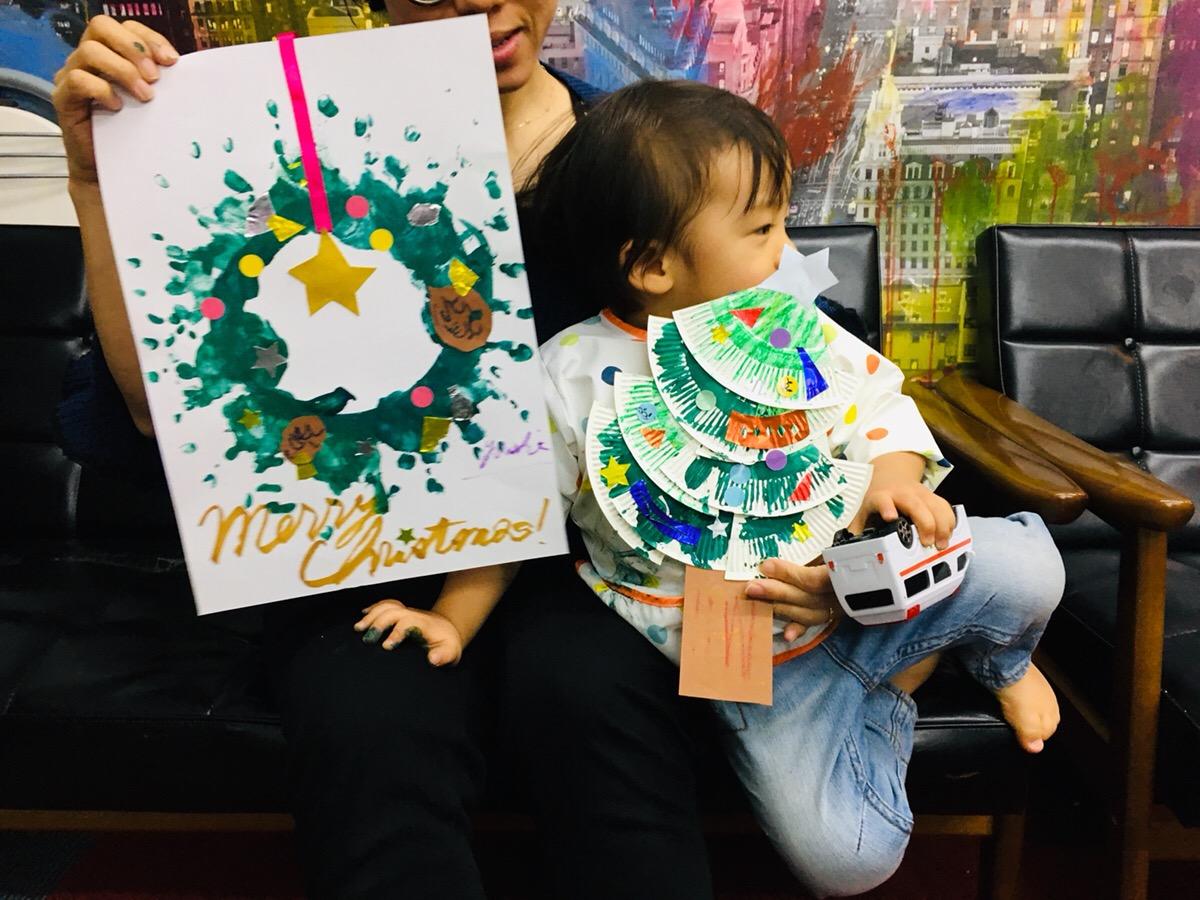 親子でつくるクリスマスアート!自宅に飾れる世界にひとつのベビーアート