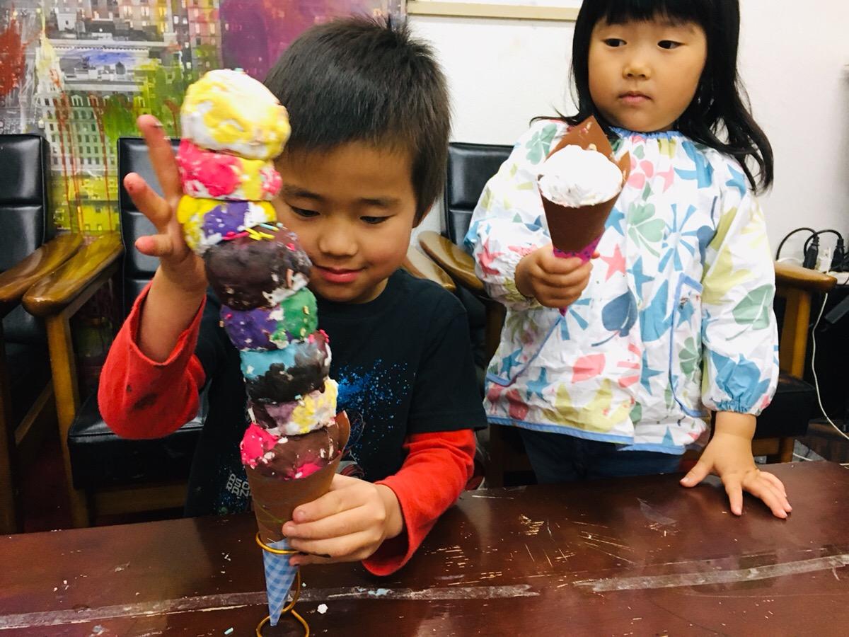 アイスクリームタワー!子供たちの手作りバランスゲーム 工作