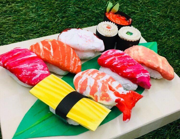 お寿司をつくる!(紙粘土 工作)