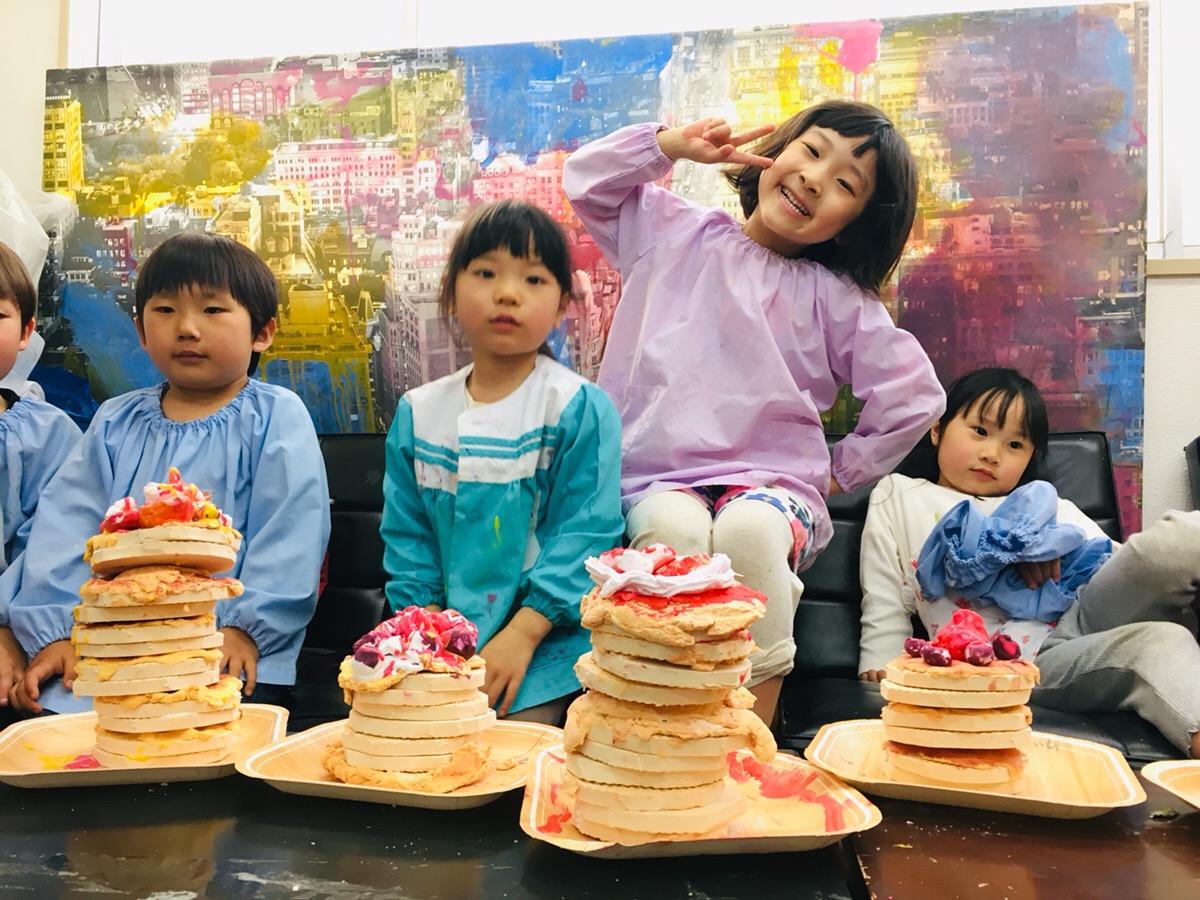 タワーパンケーキをつくってみた!幼児こどもの紙粘土工作