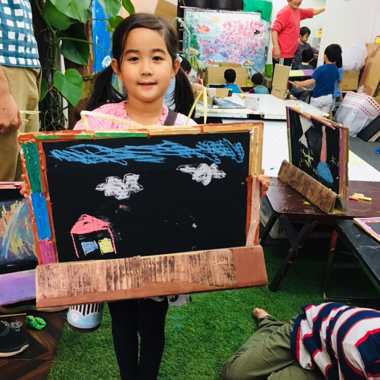 手作りオリジナル黒板でチョークアートに挑戦!黒板シートで工作