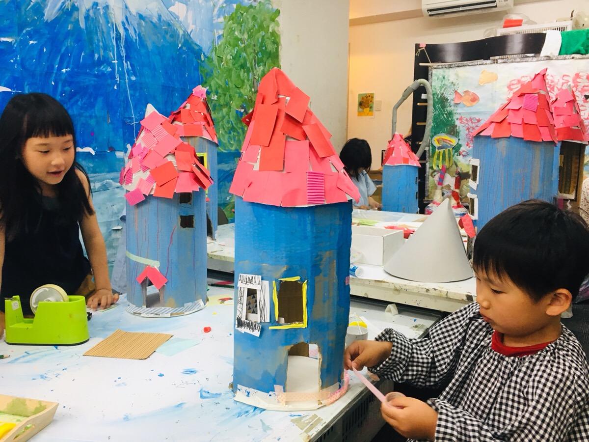 【ムーミンハウス】をつくりました!子供の造形工作
