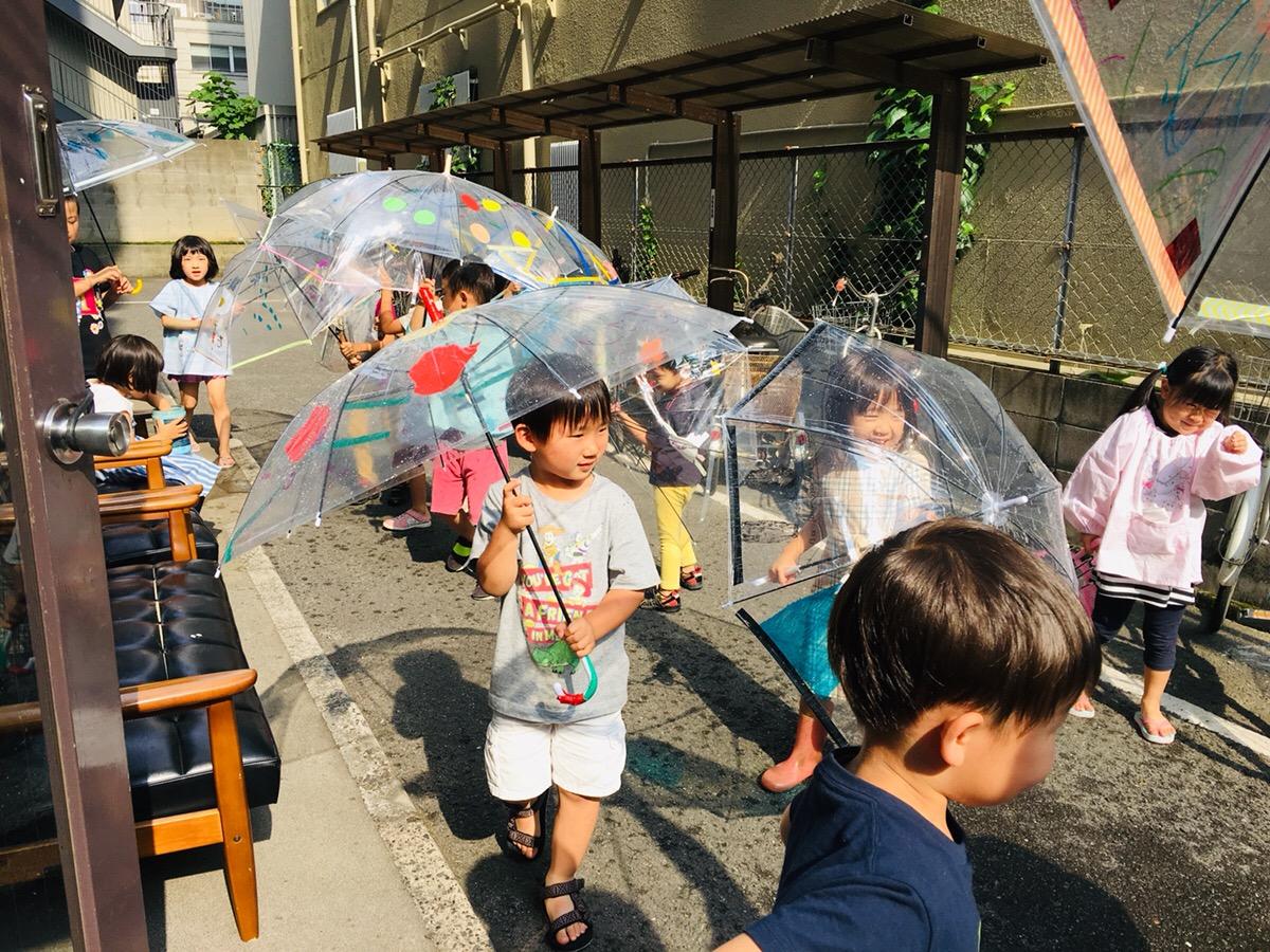 子供のオリジナル傘!ビニール傘をデザイン・リメイク