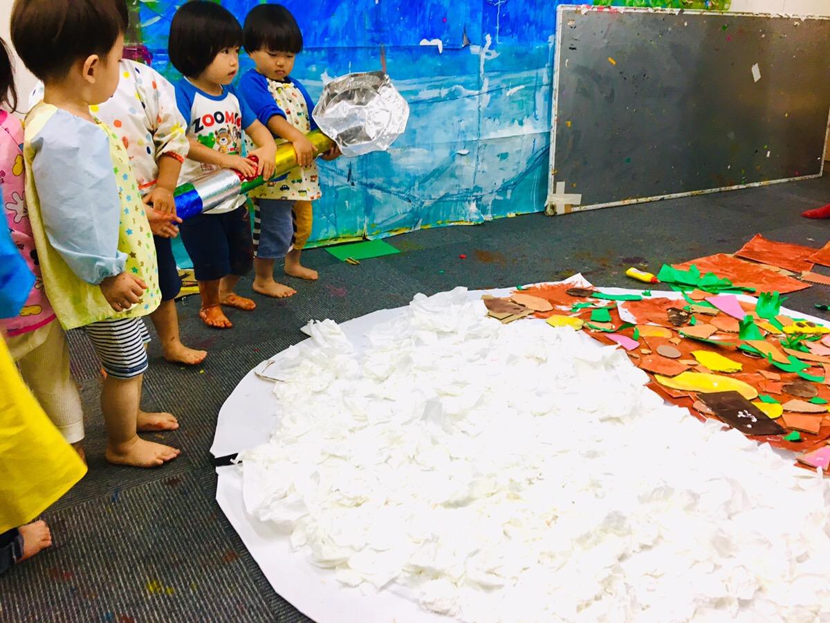 巨大カレーをつくりました!幼児こどもの造形教室