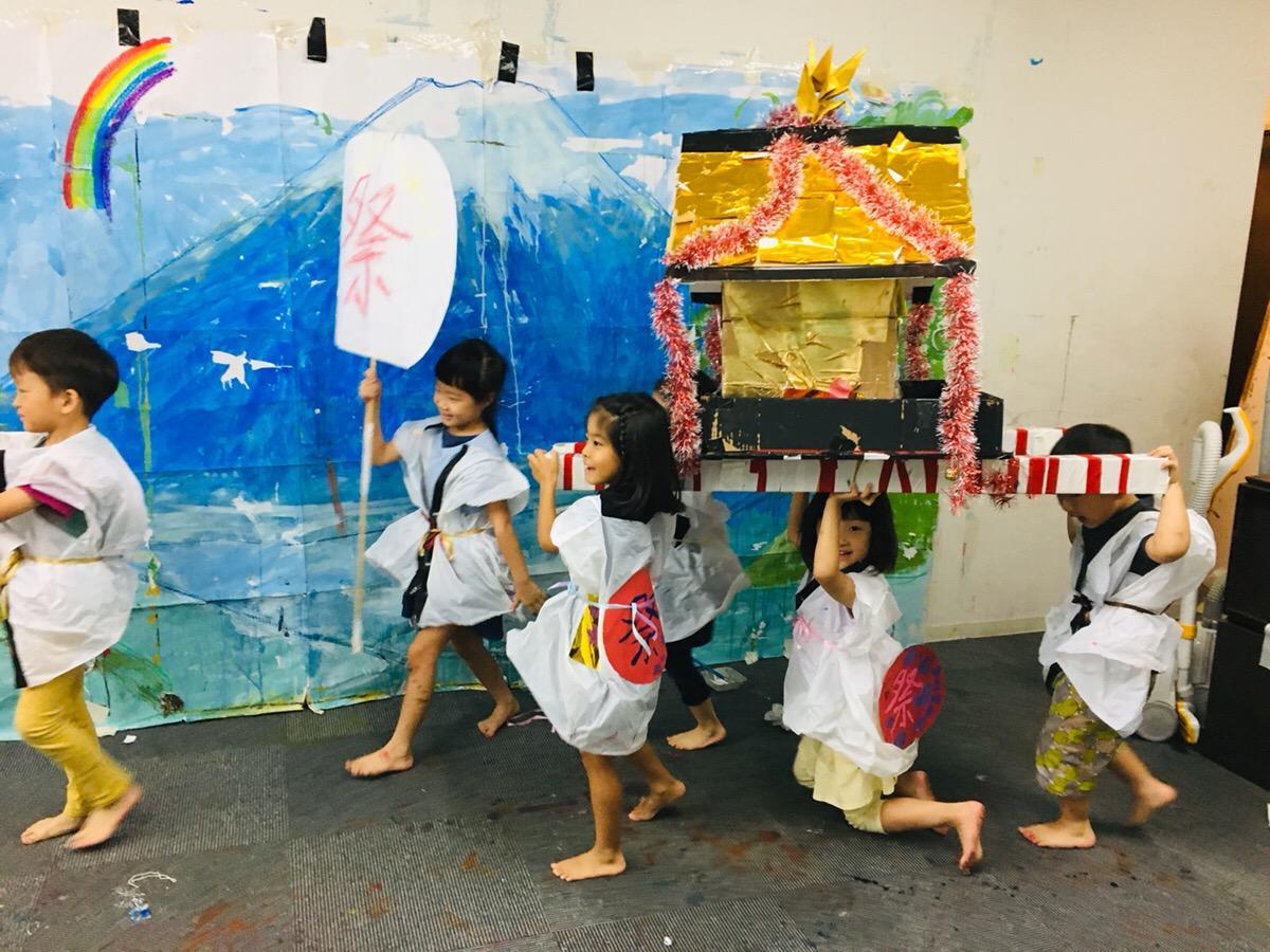 「お神輿」や「はっぴ」をつくってモネスク祭りを開催しました!