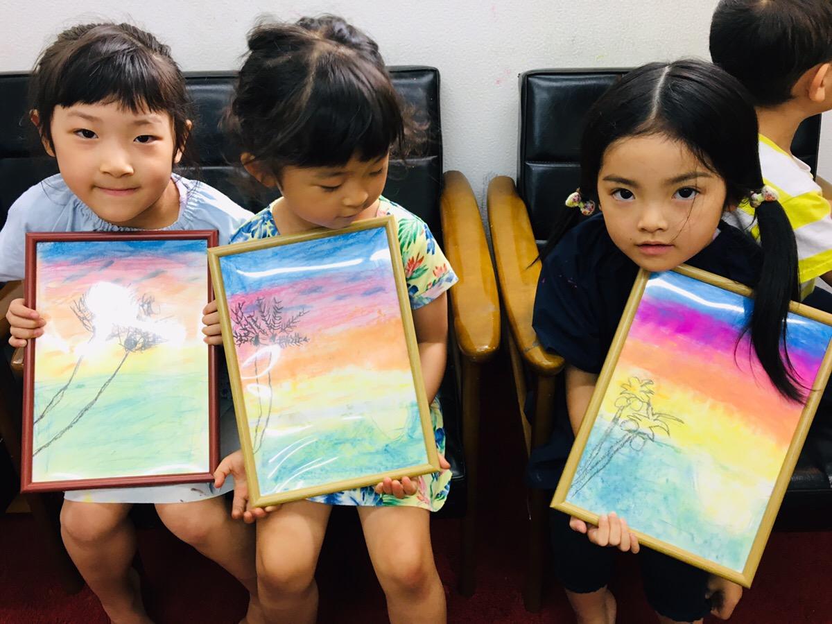 【ハワイアンアート】に挑戦!指で描くパステル 子供でも簡単♪