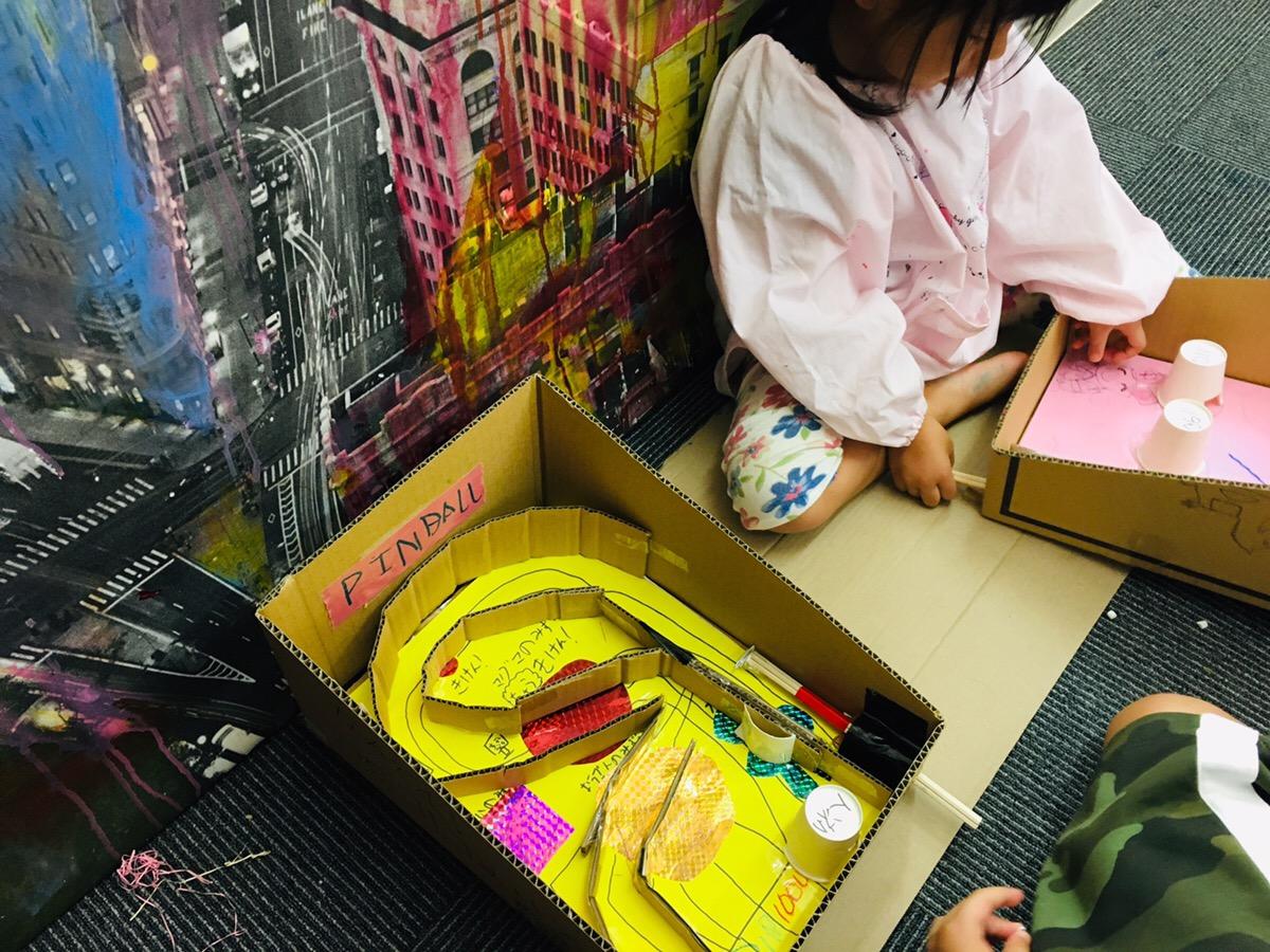 【手作りピンボール!】児童幼児のダンボール工作