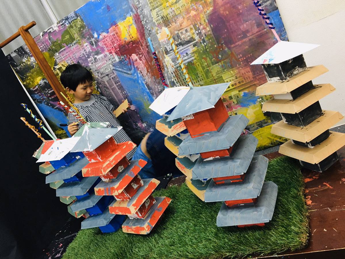 【京都の五重塔をつくる!】子どもの造形アート